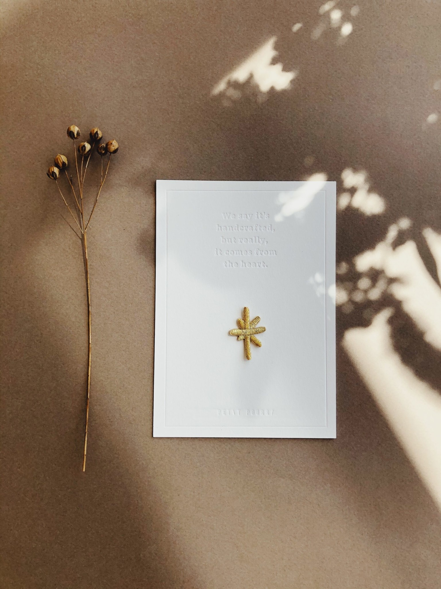 Petit Pourri Little golden star gift card