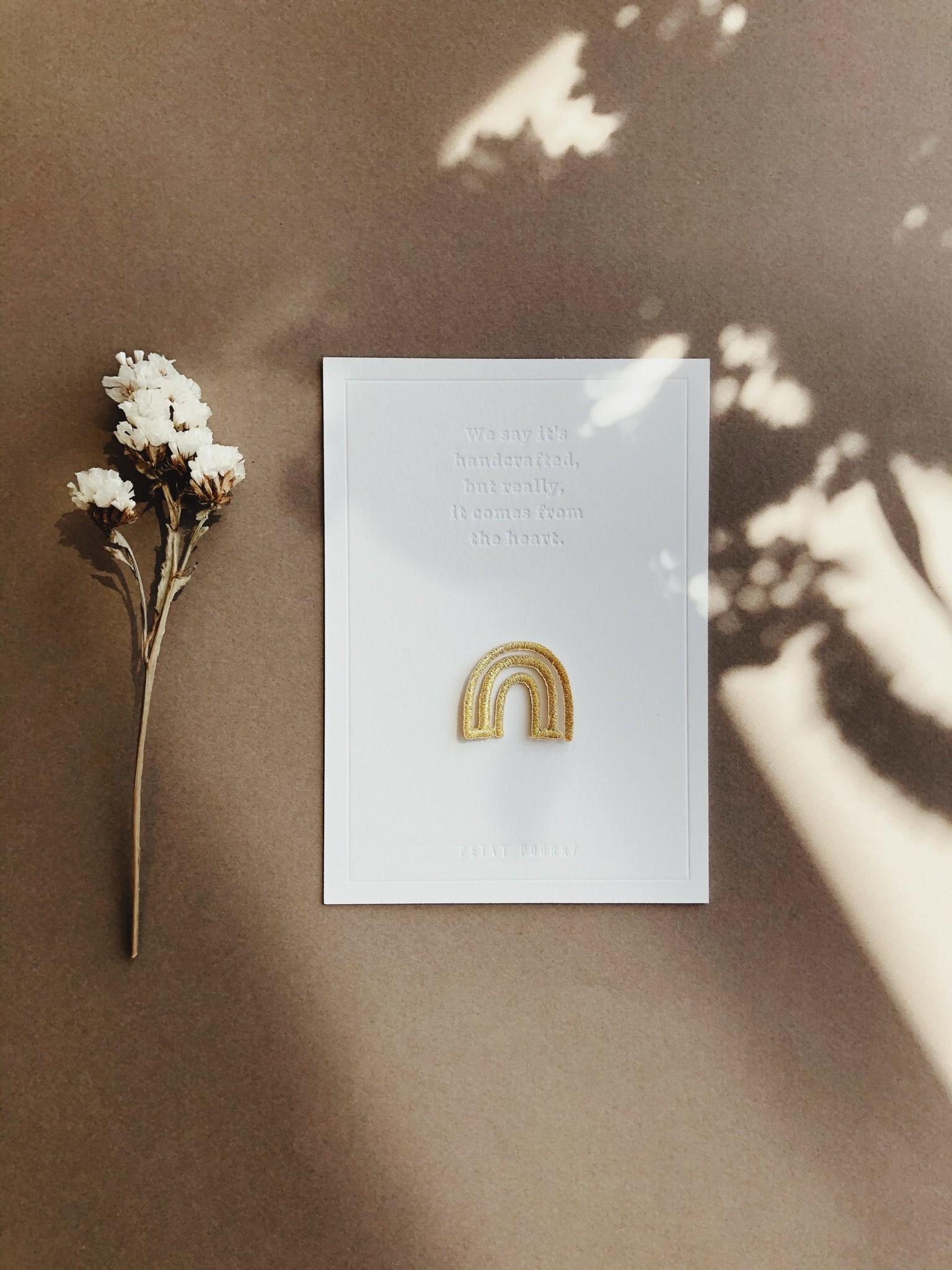 Petit Pourri Letterpress Card Rainbow
