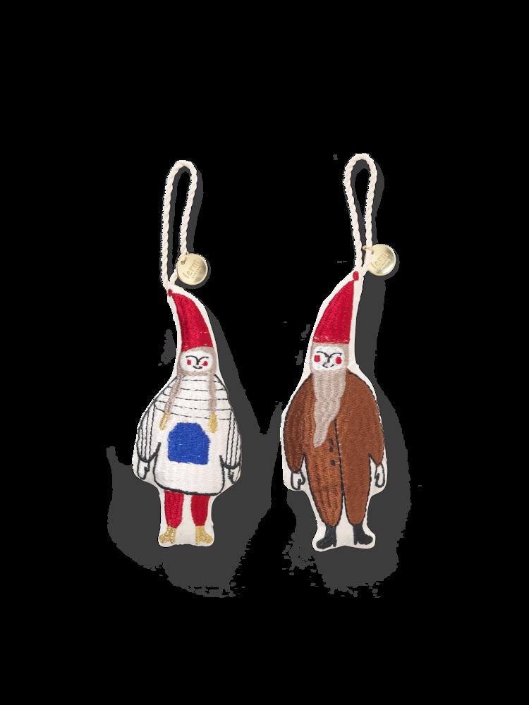 Ferm Living Christmas ornament - Elf pair - set of 2