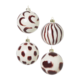 Ferm Living Christmas Glass Ornaments - set of 4 - Red Brown