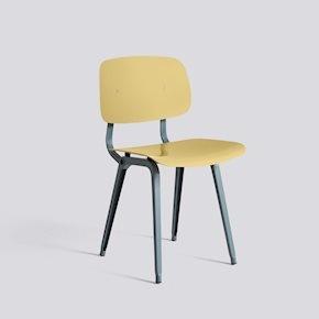 HAY Revolt chair - ocean powder coated steel - Biscotti