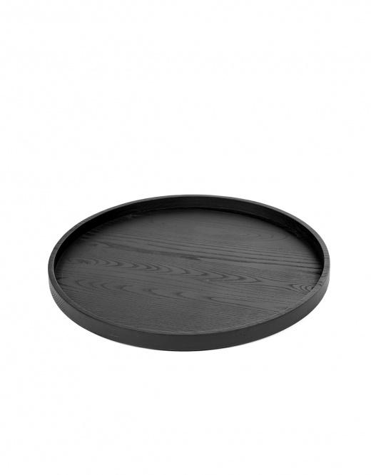 Serax Tray Wood Round - diam.35 cm - carbonised ash