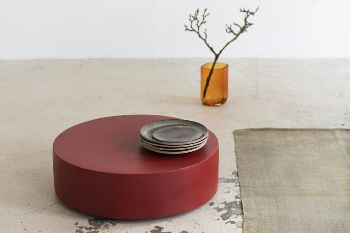 Serax Round Fiber Coffee Table Marie Red
