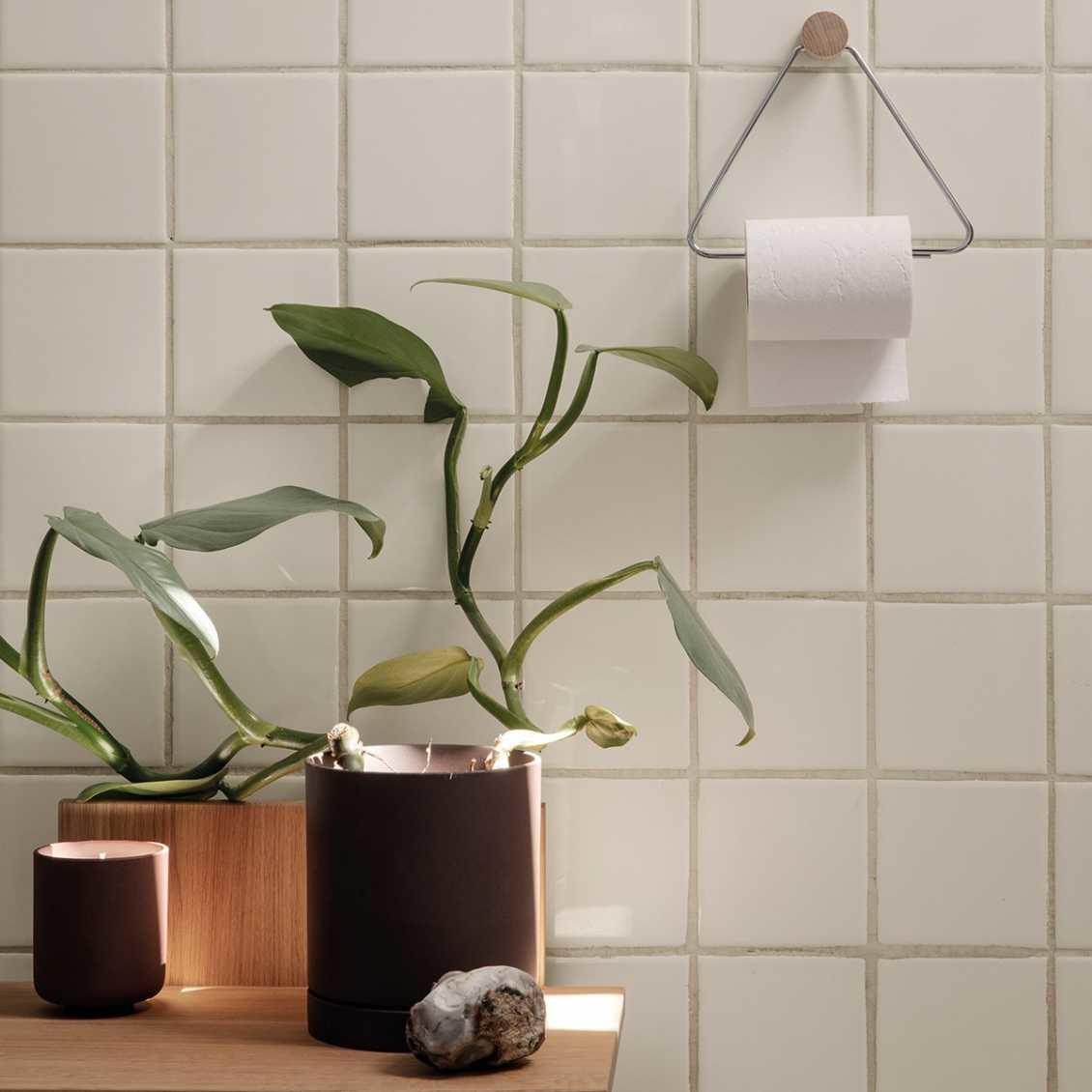 Ferm Living toilet paper holder - chrome