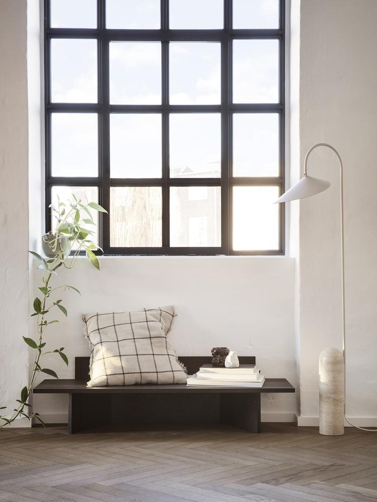 Ferm Living Calm Cushion - Camel/Black - 50 x 50cm
