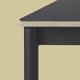 Muuto Base table - black laminate - plywood - black - L190cm W85cm