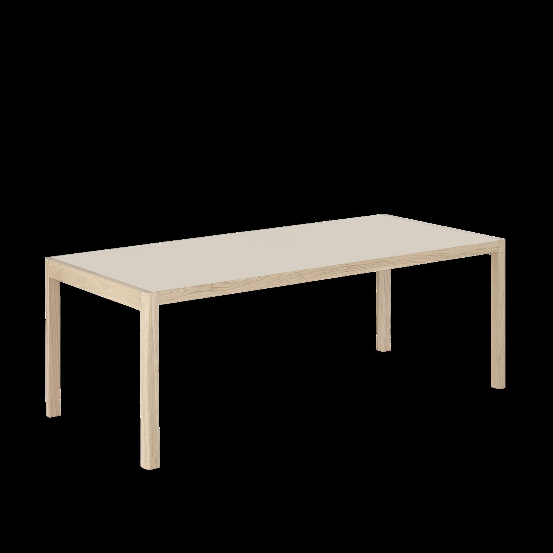 Muuto Workshop table - Warm grey linoleum/ Oak