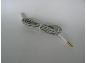 WeSC Kabel | Wit | Gevlochten | Stof