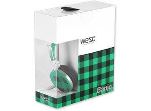 WeSC banjo-checked-blanery-green-koptelefoon