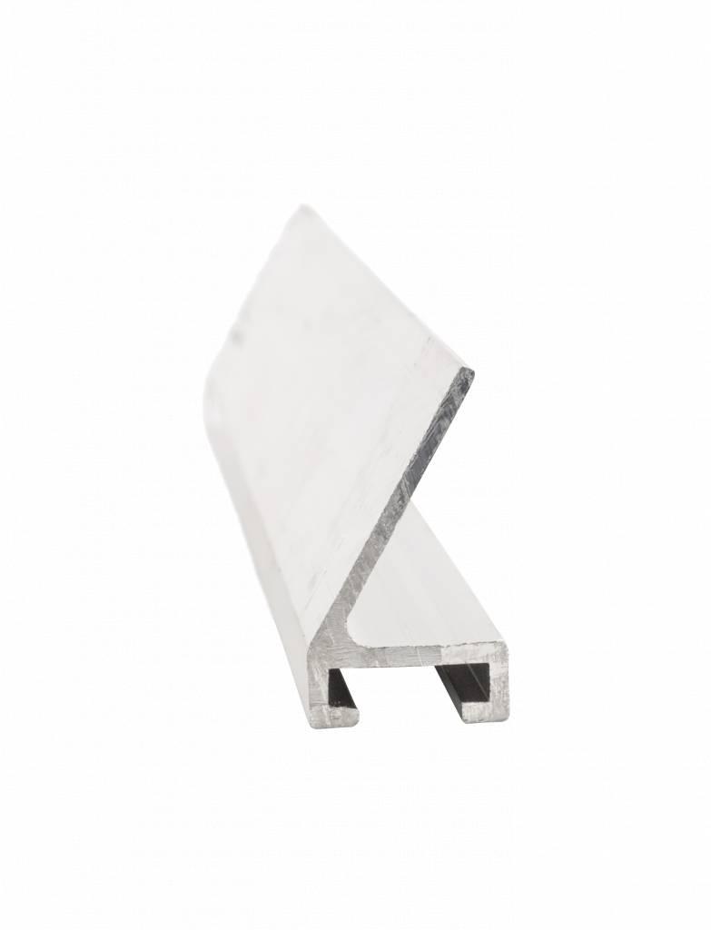 Aluminium C-Profil mit 60° Winkel - 2 m Stangenware
