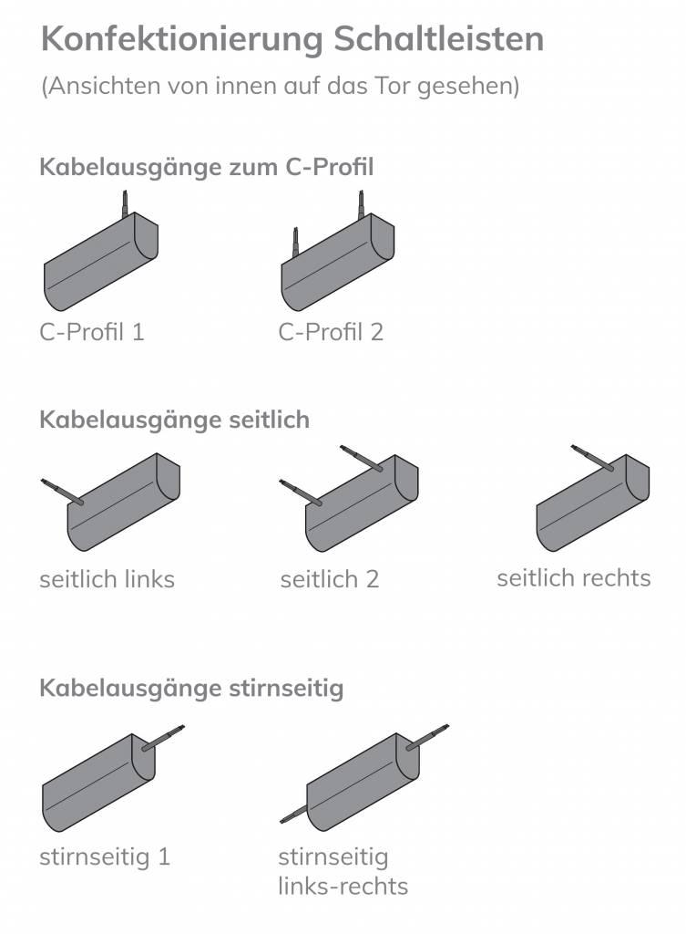 Profil 002 - Schaltleiste mit Dichtlippe