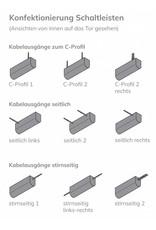 Profil 003 - Schaltleiste für Schiebetore