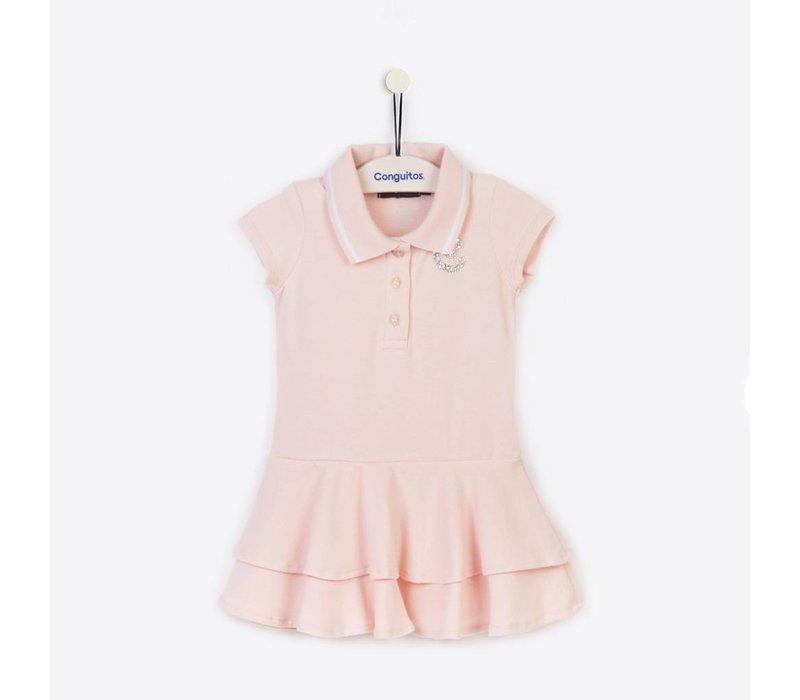 polojurkje meisje roze met korte mouw