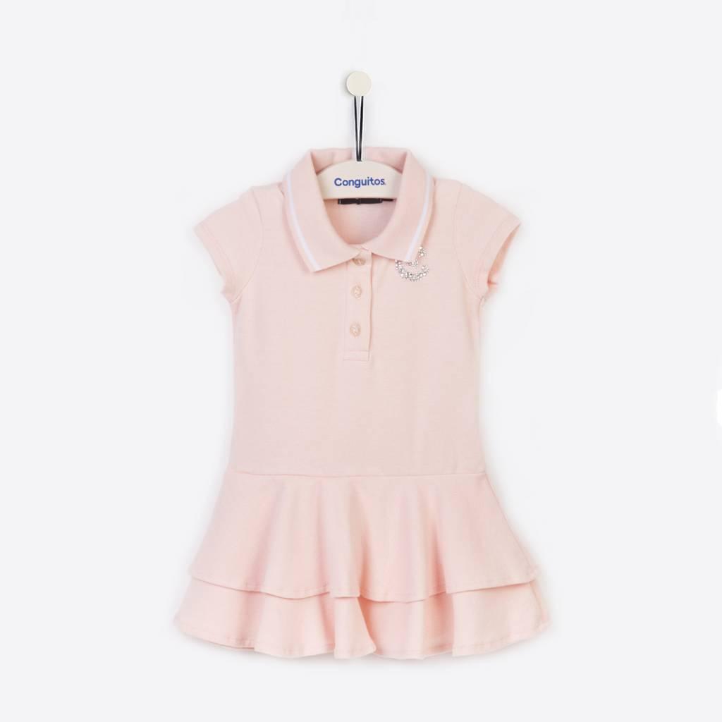 27861d2a357b14 Polojurkje meisje roze van Conguitos - Shop bij - DressedKid