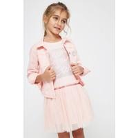 meisjes jurk roze met korte mouw