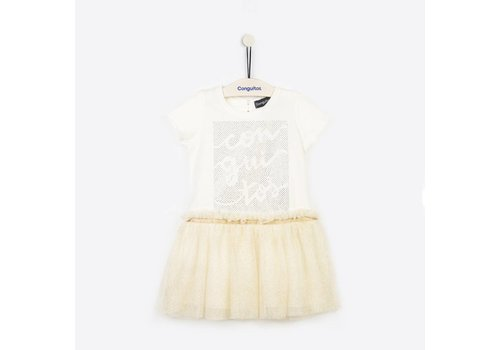b099fce8ae989a Conguitos meisjes jurk crème