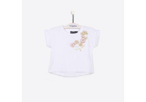 Conguitos shirt wit bloemen