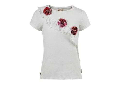 Jottum shirt wit met rozetten
