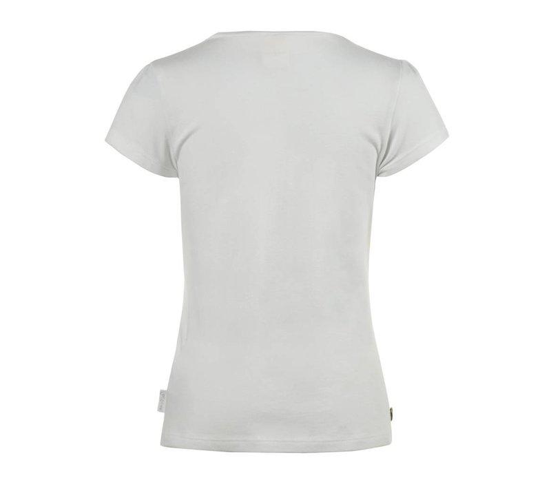 shirt wit met rozetten