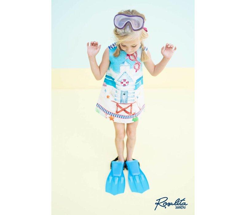 meisjes jurk strand