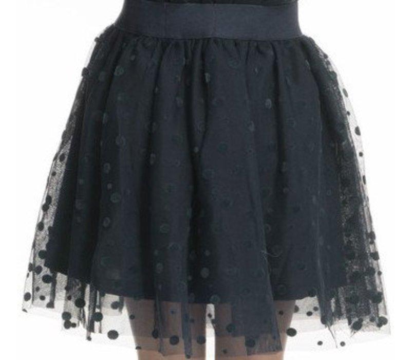 tule rok meisje donkerblauw