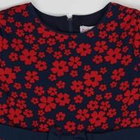 meisjes jurk rode bloemen print