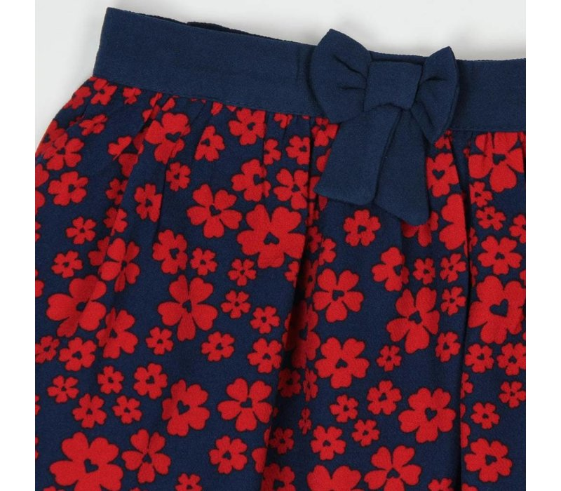 rok rode bloemen print