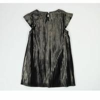 meisjes jurk plooi zwart goud