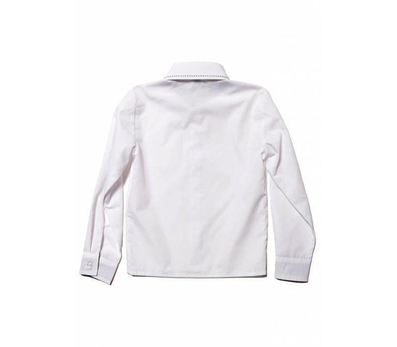 blouse wit lange mouw