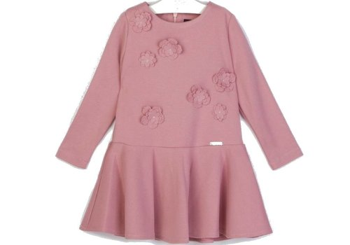 Conguitos meisjes jurk roze bloem