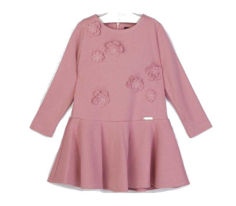 meisjes jurk roze bloem