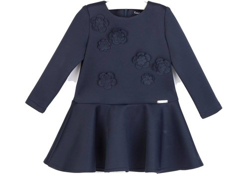 Conguitos meisjes jurk blauw bloem