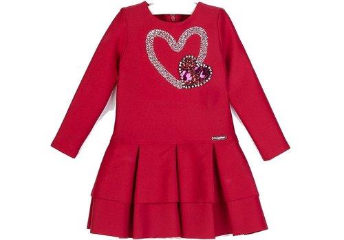 Conguitos meisjes jurk rood hart