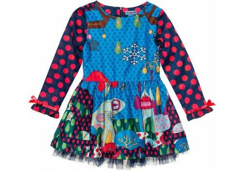 Rosalita Señoritas meisjes jurk ijspegel en stippen