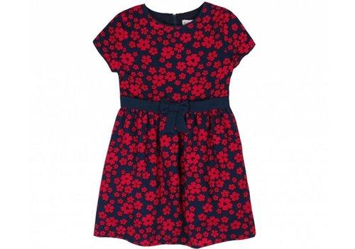 Boboli meisjes jurk rode bloemen print