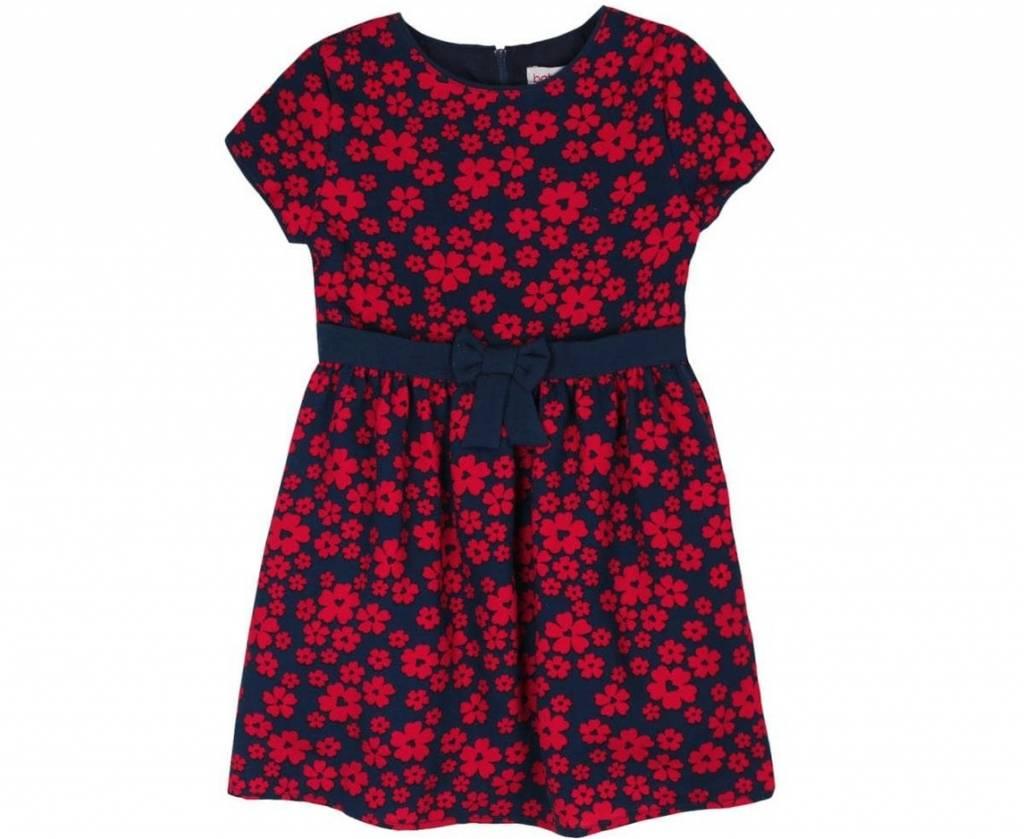 332789d229b71b Meisjes jurk rode bloemen print - DressedKid