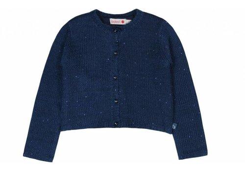 Boboli meisjes vest blauw met strik