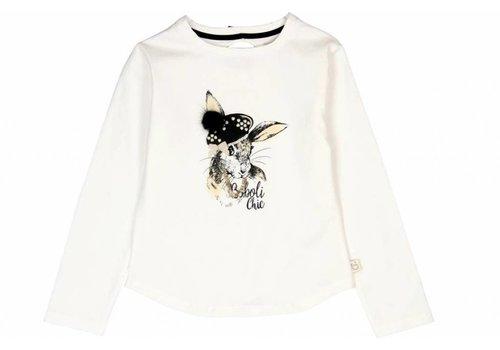 Boboli shirt wit met konijn