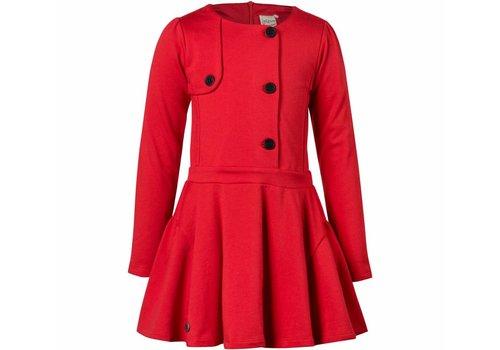 Jottum meisjes jurk rood met knopen