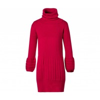 meisjes jurk rood met col