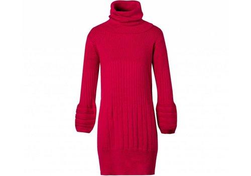 Jottum meisjes jurk rood met col