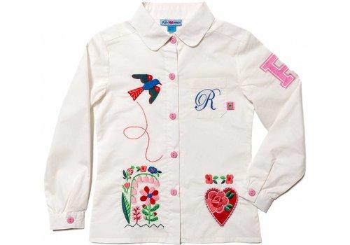 Rosalita Señoritas blouse wit met applicaties