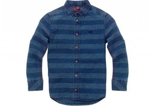 Sevenoneseven jongens overhemd blauw streep