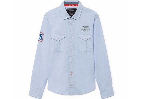 Hackett London jongens overhemd blauw - Aston Martin Racing