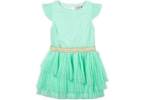 Boboli jurk mint groen plissé