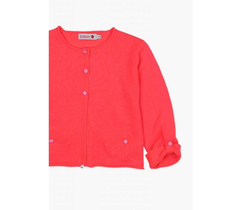 vest hard roze met rolbies