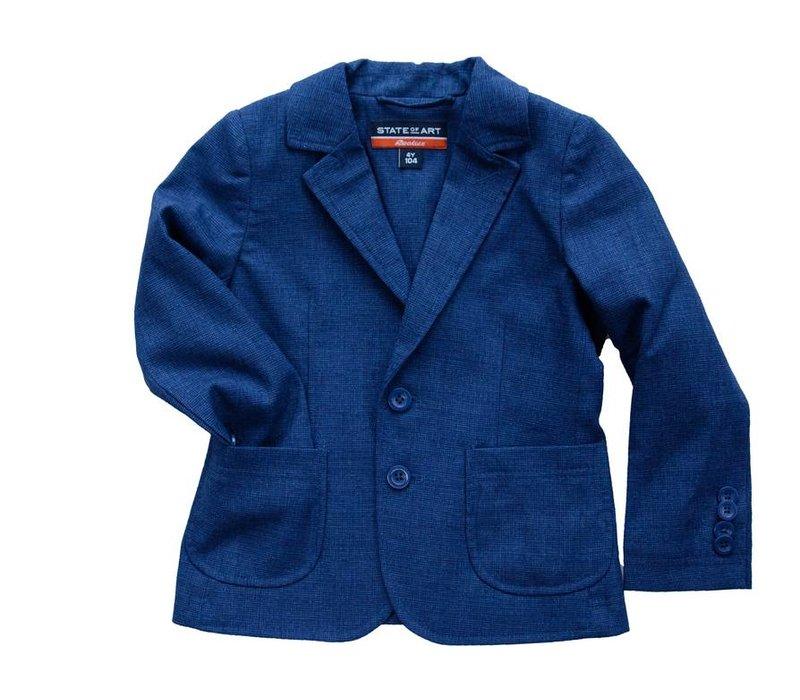 jongens colbert jasje blauw gemêleerd