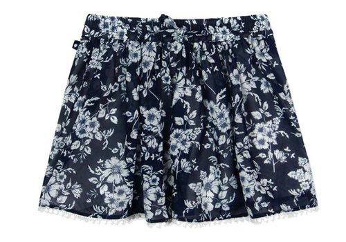 Boboli rok blauw met witte bloemen