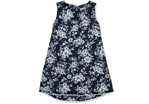 Boboli jurk blauw met witte bloemen