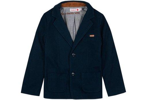 Boboli colbert jasje blauw met elleboogstukken